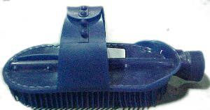 Curry Comb, Plastic with Hose Connector
