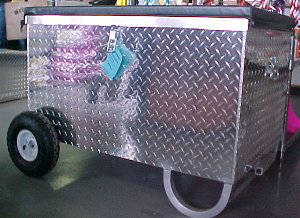 Show Box, Aluminum Chest with Wheels