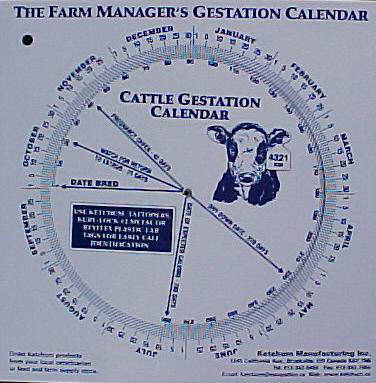 Gestation Calendar Wheel, Goat
