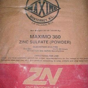 50-lb bag of Zinc Sulfate Monohydrate